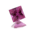 Lab Created Bright Pink Sapphire Princess/Squares
