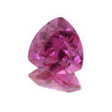 Lab Created Bright Pink Sapphire Trillions