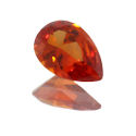 Lab Created Padparadsha Sapphire Pear Shapes