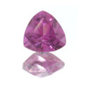 Lab Created Pink Sapphire Trillions