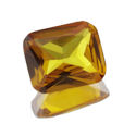 Lab Created Yellow Sapphire Emerald Cut