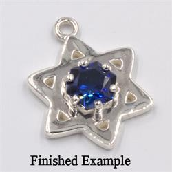 Star of David Dangle Setting