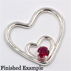 Double Heart Premium Pendant Setting