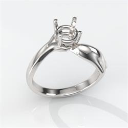 6mm Round Dolphin Premium Ring Mounting