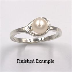 Sterling Pearl Loop Design Premium Ring Mounting