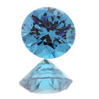Swiss Blue Cubic Zirconia Round Shape