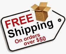 Free Domestic Shipping for all orders over $50.00