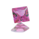 Lab Created Pink Sapphire Princess/Squares