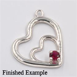 Double Heart Premium Dangle Setting