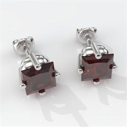 Square Side-Set Premium Earring Mountings