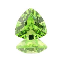 Apple Green Cubic Zirconia Trillion