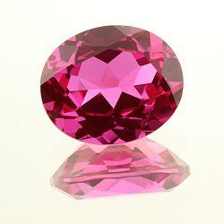 Lab Created Bright Pink Sapphire Oval