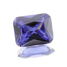 Tanzanite Cubic Zirconia Emerald Cuts